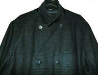 CALVIN KLEIN MENS WOOL BLEND PEACOAT WOOL BLEND COAT PLAID WOOL BLEND JACKET~XXL