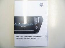 VW Aktivierungsdokument für App Connect