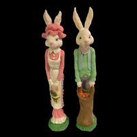 Hermitage Pottery Vintage Poly Stone Pencil Easter Bunny Collection Him & Her