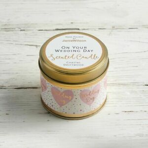 Scented Candle Tin Large On Your Wedding Day