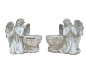 Angel Statue Figurine Ornament  Pot Planter Set