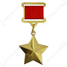 Russian Army HERO OF THE SOVIET UNION Medal - Full Size Gold Star WW2 Award