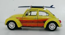 VW Beetle with Surfboard Custom Graphics 1:43 Diecast