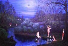 LE #1 4X6 POSTCARD RYTA SURREAL GOTHIC UNUSUAL ART IVANA KAPULA NIGHT NUDE ORGY
