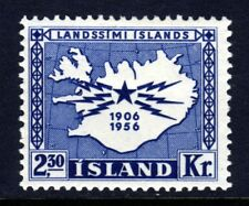 ICELAND 1956 50th Anniversary of Telegraph System SG 343 MINT