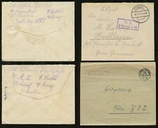 GERMANY WW1 MILITARY...4 ITEMS...FELDPOST ENVELOPES...VARIOUS MARKINGS