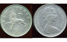 ROYAUME UNI  10  new  pence 1968   ( bis )