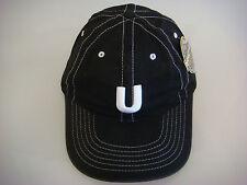 "NEW ""U"" Mammoth Mountain ""Unbound"" Black w/white Golf Hat w/adj headband (B481)"