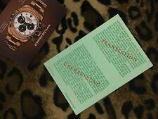 ROLEX TRANSLATION BOOKLET DAYTONA ref. 6263 6265 from 1988