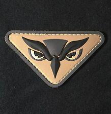 OWL HEAD PVC INTEL MILITARY ISAF USA MILSPEC ACU PATCH W/ VELCRO® BRAND FASTENER