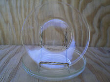 Clear Glass Medium Luncheon Plates Set Of 4