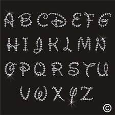 Disney Font Alphabet Rhinestone Diamante Transfer Iron On Hotfix Gem Motif Patch