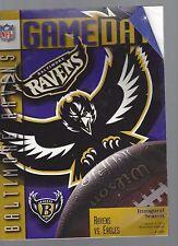 Baltimore ravens program 1st season 1996 official game memorial stadium nfl
