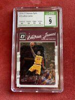2016-17 Donruss Optic #15 LeBron James W/ Kobe Bryant CSG 9 MINT