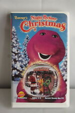 Barney Video VHS Barney's Night Before Christmas clam shell Ages 1 - 5