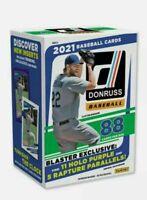 2021 Donruss Baseball Blaster Box - New Sealed - 88 cards - Holo Purples Rapture
