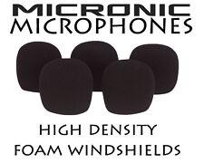 5x diamètre 9mm-12mm lavalier microphone mousse pare-brise pare-brise dust cover