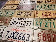 Starter Pack of 7 Original American Licence Number Plates - 7 Different States