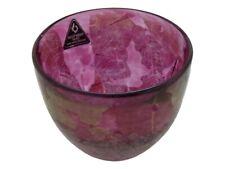 Rare ISLE of WIGHT Glass PINK AZURENE Small Bowl Signed Michael Harris