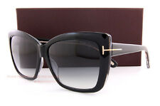 Brand New Tom Ford Sunglasses TF 0390 390 Irina 01B Black/Gradient Grey Women