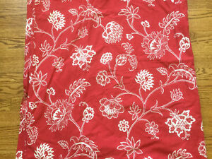 IKEA Alvin Flor Red & White flower 14673 Duvet Cover Cotton 60 x 84 Twin