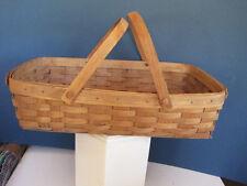 Large Vintage Longaberger Double handled Basket 1985 USW 18 x 12 x 5