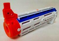 NERF RECON CS-6 LONGSHOT BARREL EXTENSION SOFT DART GUN White Rare N-STRIKE