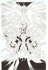 Trinity #48 p.11 - Superman and DC Heroes vs. Krona 2009 art by/singed Bagley