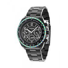 POLICE 14343JSBRW/02M Mens Navy V Tachymeter Rainbow Black Watch RRP £215