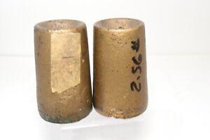Set Pr Antique Ogee Weight Driven Clock Weights 2-1/2 lb Each 2lb 8oz. Original