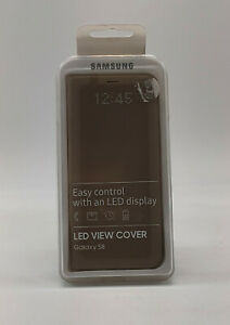 Samsung LED View Cover für Samsung Galaxy S8, Gold (EF-NG950)