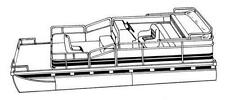 7oz STYLED TO FIT BOAT COVER JC PONTOONS TRITOON 246 2004-2007
