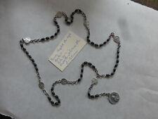 ancien chapelet des 7 Sept douleurs perles en buis  medaille et pateres alu   FR