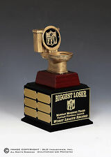 "Fantasy Football Perpetual Trophy '""TOILET"" Last Place 12 Yr Biggest Loser"