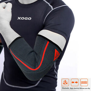 Compression Elbow Sleeve Brace Support Training Gym Bandage Arm Guard S to XL