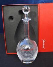 NIB Baccarat Crystal Decanter w/ Stopper Nancy Pattern Original Box  Made France