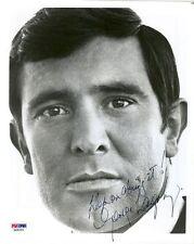 "GEORGE LAZENBY SIGNED  ""JAMES BOND"" AUTOGRAPHED 8X10 PSA/DNA COA"