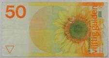 Netherlands 50 Gulden 1982 ~VF Condition Circulated Banknote P-96