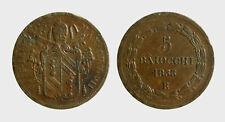 s539_27) Pontificio  Pio IX  (1846-1870) 5 Baiocchi 1853 R