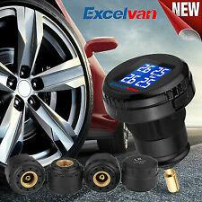 car 12v tpms wireless lcd tyre pressure monitoring sensor system valve kit
