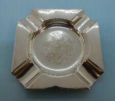 More details for royal engineers military hallmarked silver  ashtray. adie bros, birmingham 1956
