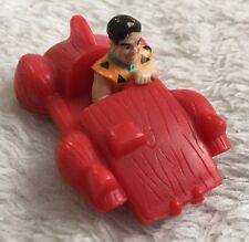 Vintage Fred Flintstone Plastic Figurine Vehicle UCS Amblin Bedrock Car