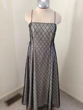 Papell Boutique Evening size 10 Formal Dress Prom white black full length long