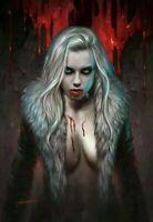 DARK RED #1 2nd Shannon Maer Virgin Foil Blood Splash Variant Aftershock NM+