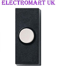 DOOR BELL CHIME BELL PUSH PRESS BUTTON BLACK