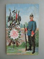 Ansichtskarte Regiment Soldat Pickelhaube JRW ? 112 Fahnen
