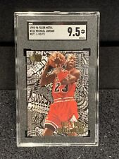 Michael Jordan 1995-96 Fleer Metal SGC 9.5 Mint + Chicago Bulls HOF