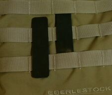 3M BLACK reflective patch for tactical gear MOLLE loops. 1×4 inch. 2 pcs