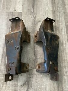 1967 Ford Galaxie Mercury HOOD HINGE to FENDER Mounting Brackets LEFT RIGHT OEM