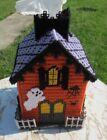 Handmade Haunted House Needlepoint Plastic Canvas Tissue Box Cover Halloween